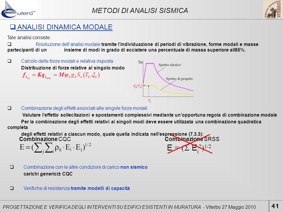 METODI DI ANALISI SISMICA