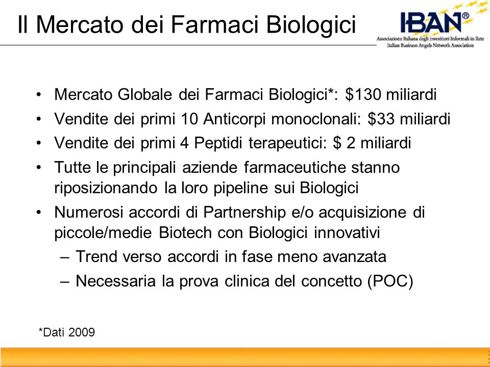 Il Mercato dei Farmaci Biologici