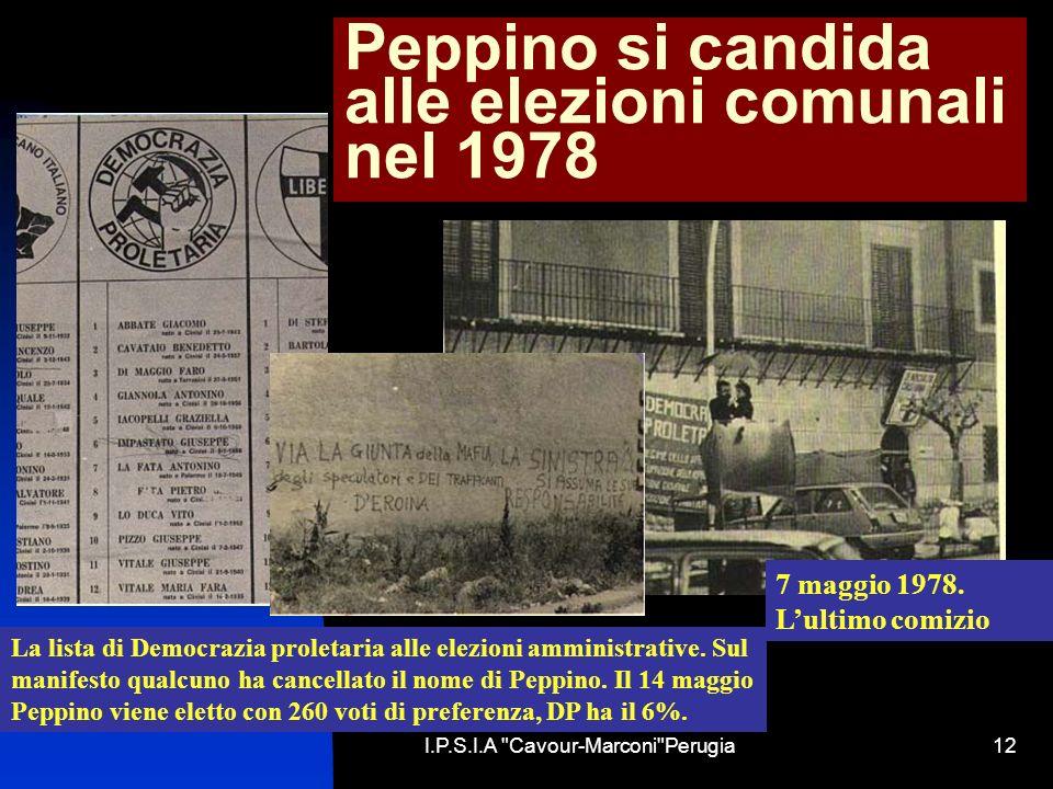 Peppino si candida alle elezioni comunali nel 1978