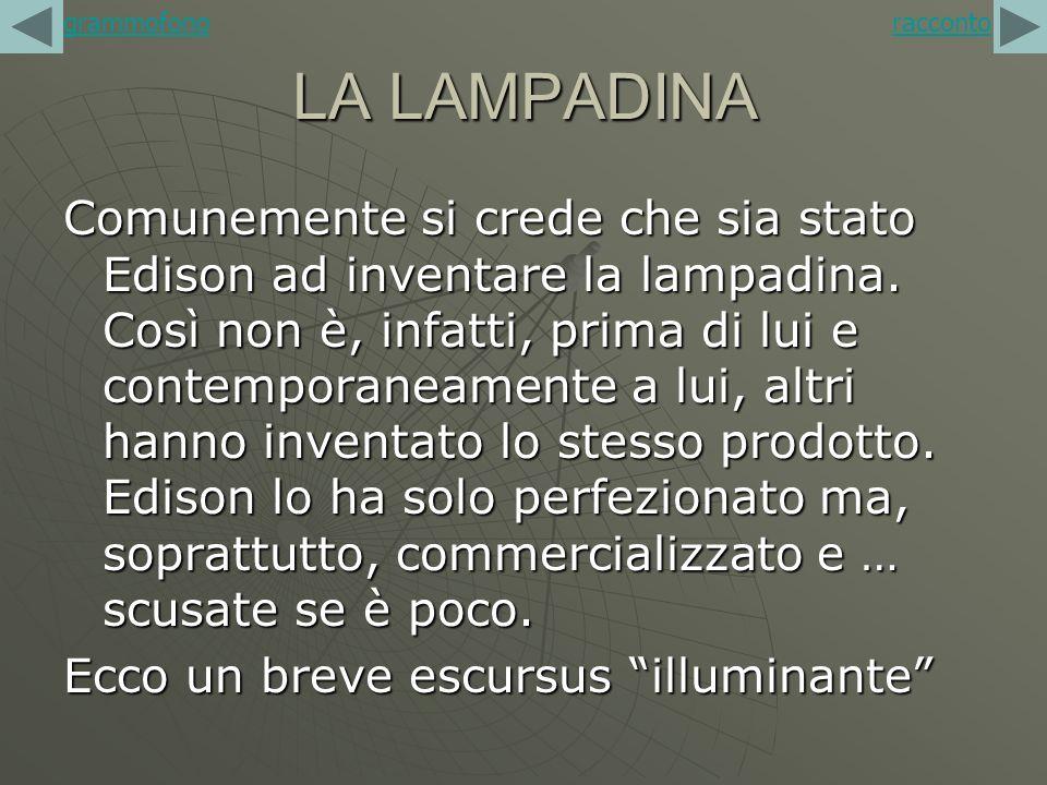grammofono racconto. LA LAMPADINA.