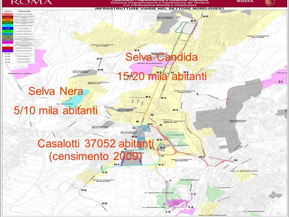 Casalotti 37052 abitanti (censimento 2009)