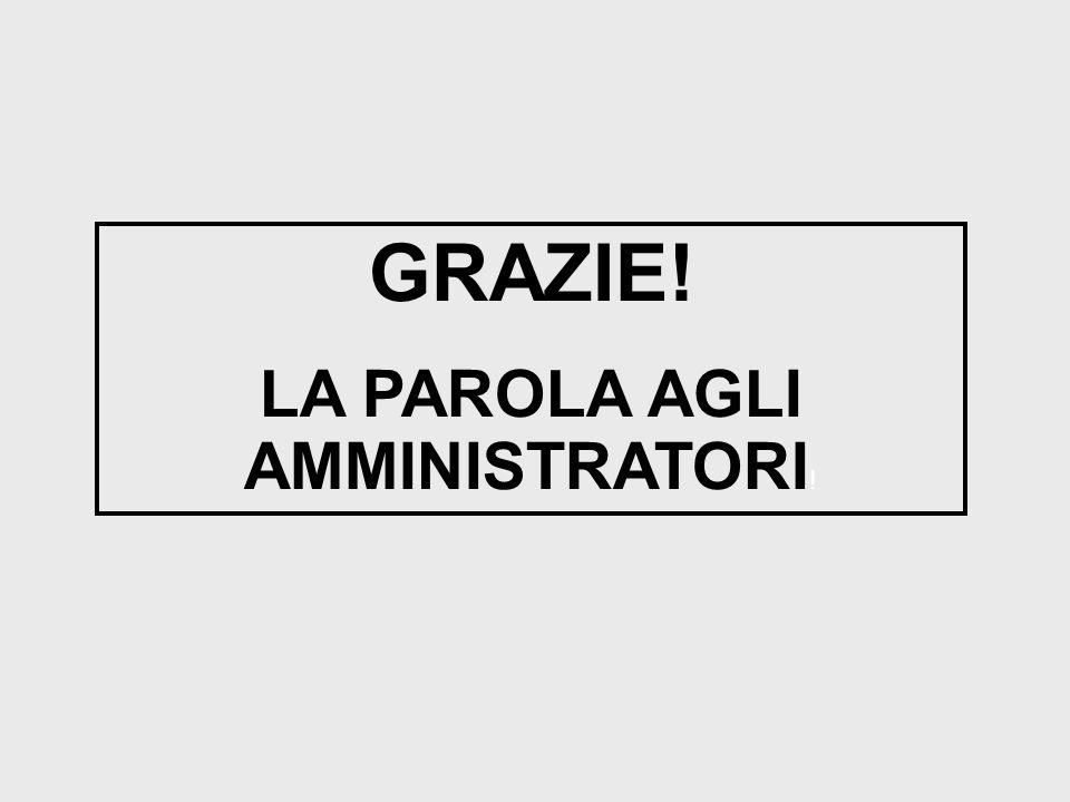 LA PAROLA AGLI AMMINISTRATORI!