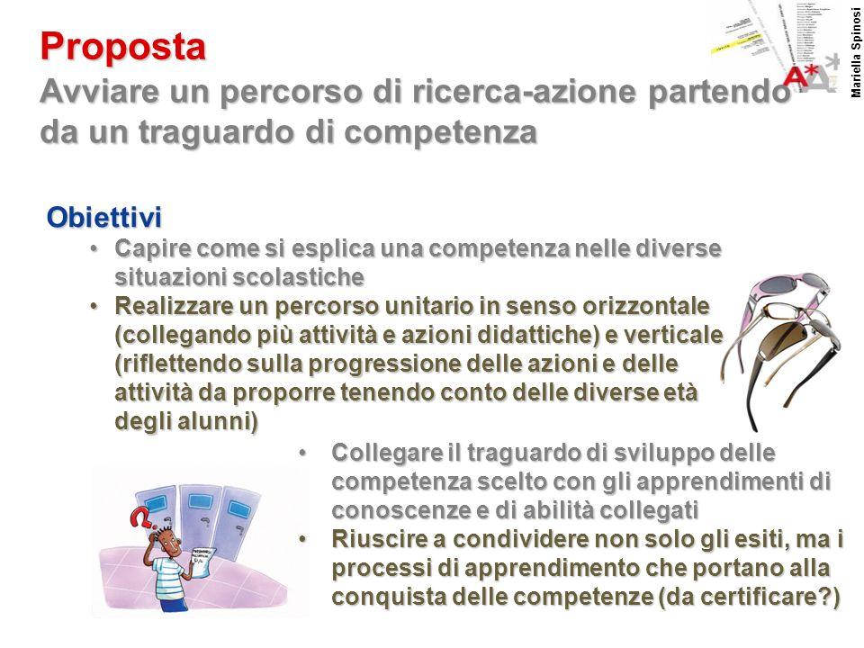 Proposta Mariella Spinosi. Avviare un percorso di ricerca-azione partendo da un traguardo di competenza.