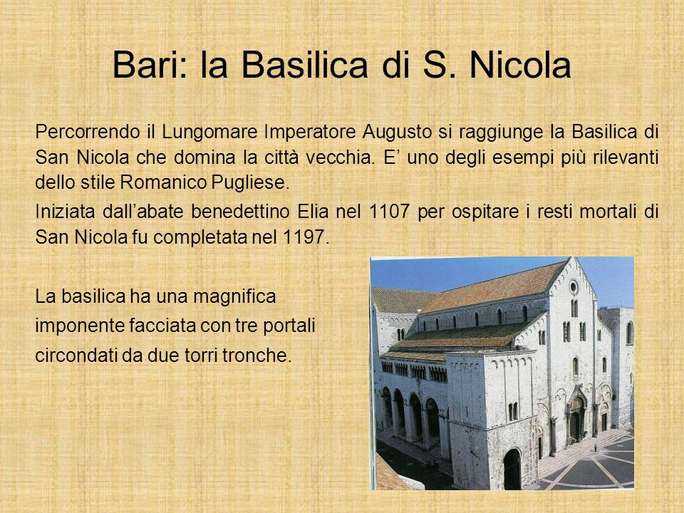 Bari: la Basilica di S. Nicola