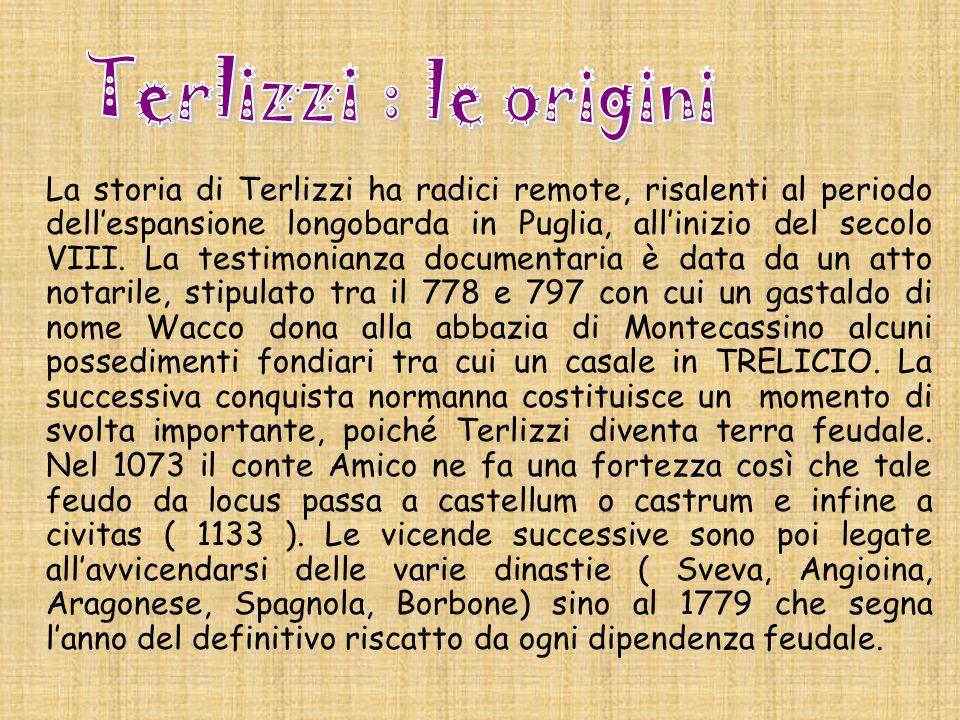 Terlizzi : le origini.
