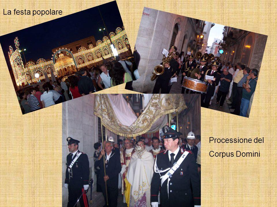 La festa popolare Processione del Corpus Domini
