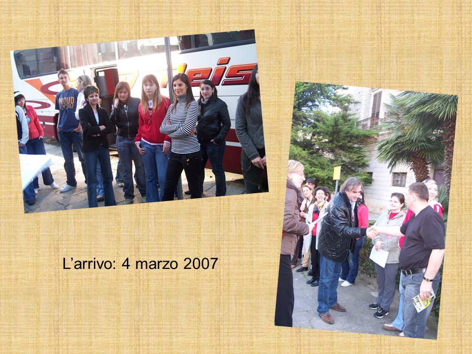 L'arrivo: 4 marzo 2007