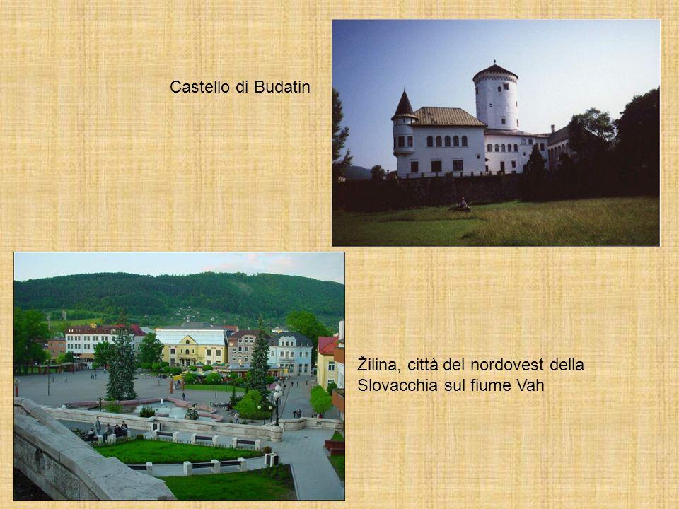 Castello di Budatin Žilina, città del nordovest della Slovacchia sul fiume Vah