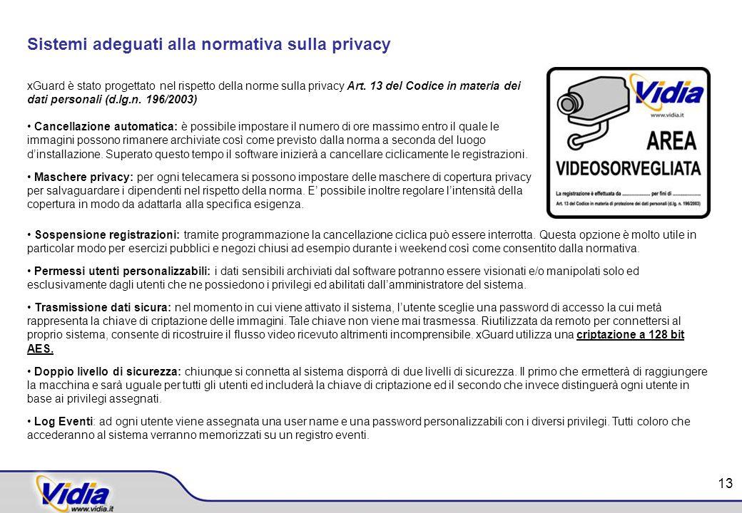 Sistemi adeguati alla normativa sulla privacy