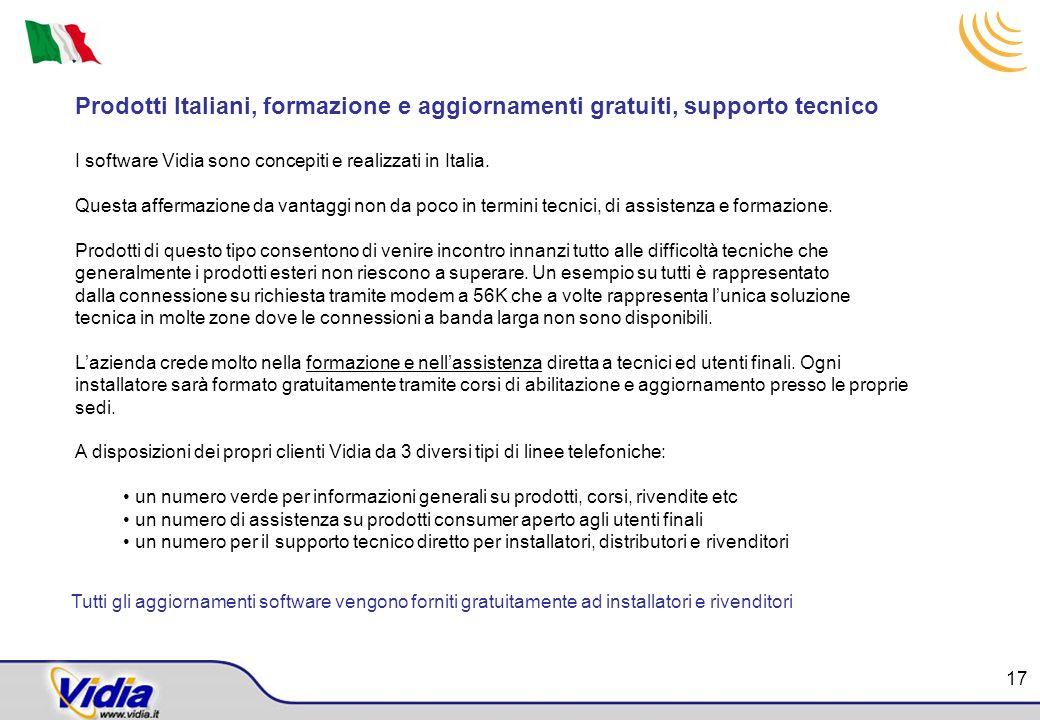 Prodotti Italiani, formazione e aggiornamenti gratuiti, supporto tecnico