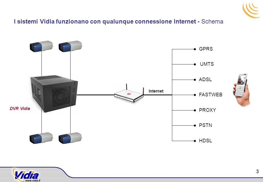 I sistemi Vidia funzionano con qualunque connessione Internet - Schema