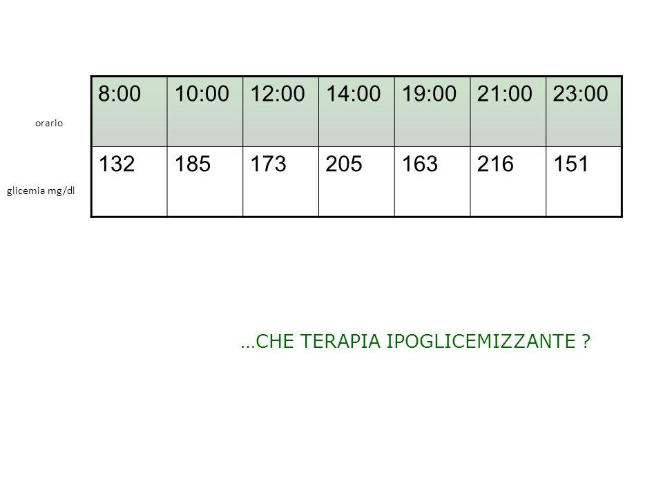 8:00 10:00. 12:00. 14:00. 19:00. 21:00. 23:00. 132. 185. 173. 205. 163. 216. 151. orario.