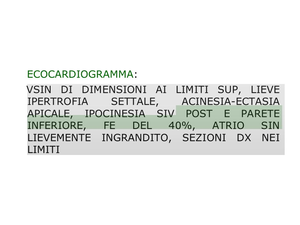 ECOCARDIOGRAMMA:
