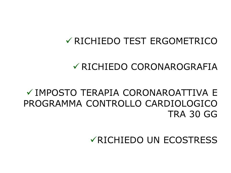 RICHIEDO TEST ERGOMETRICO