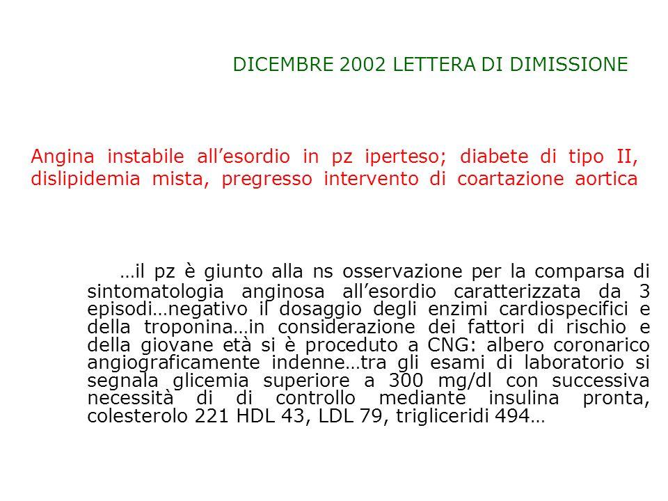 DICEMBRE 2002 LETTERA DI DIMISSIONE