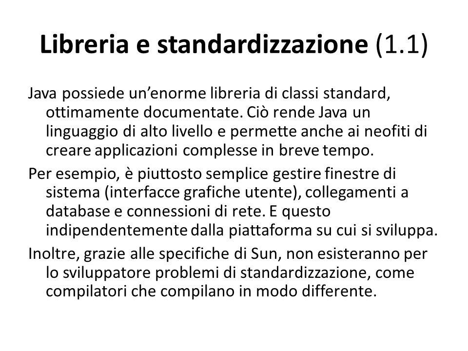 Libreria e standardizzazione (1.1)