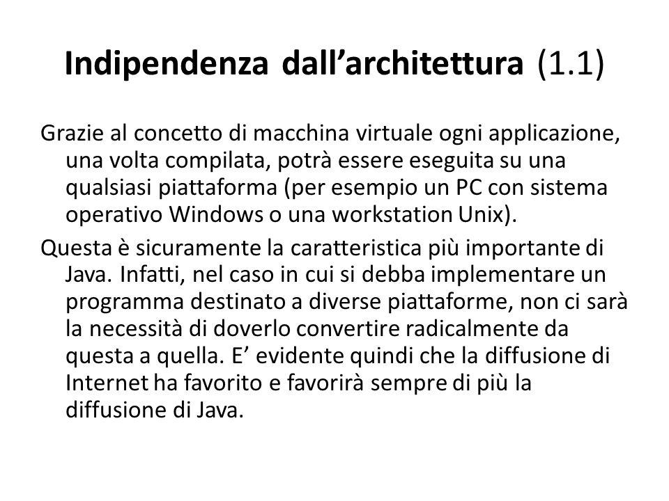 Indipendenza dall'architettura (1.1)