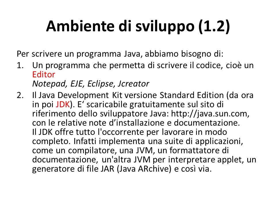 Ambiente di sviluppo (1.2)