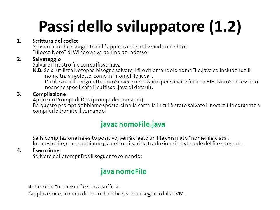 Passi dello sviluppatore (1.2)