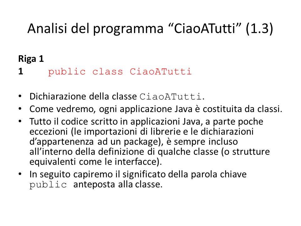 Analisi del programma CiaoATutti (1.3)