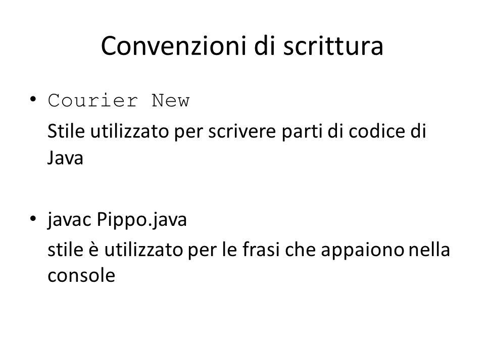 Convenzioni di scrittura
