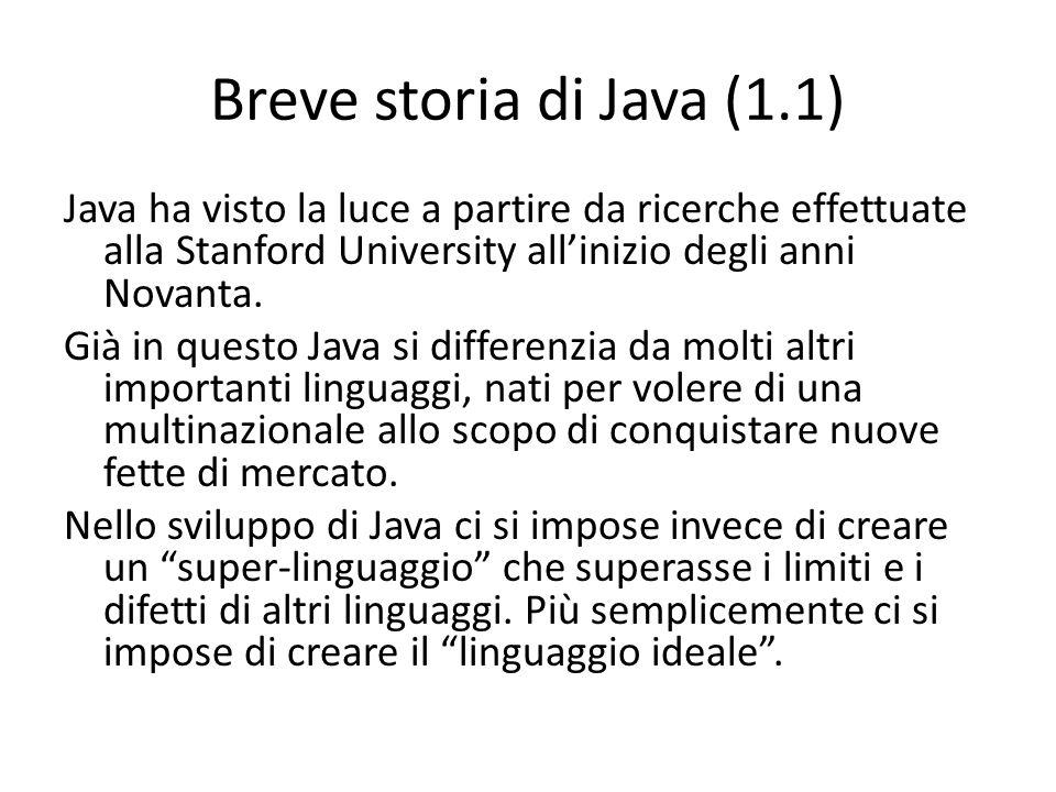 Breve storia di Java (1.1)