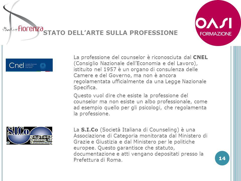 STATO DELL'ARTE SULLA PROFESSIONE