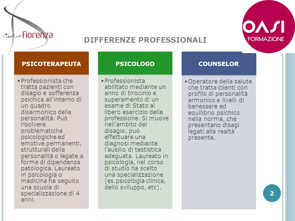 DIFFERENZE PROFESSIONALI