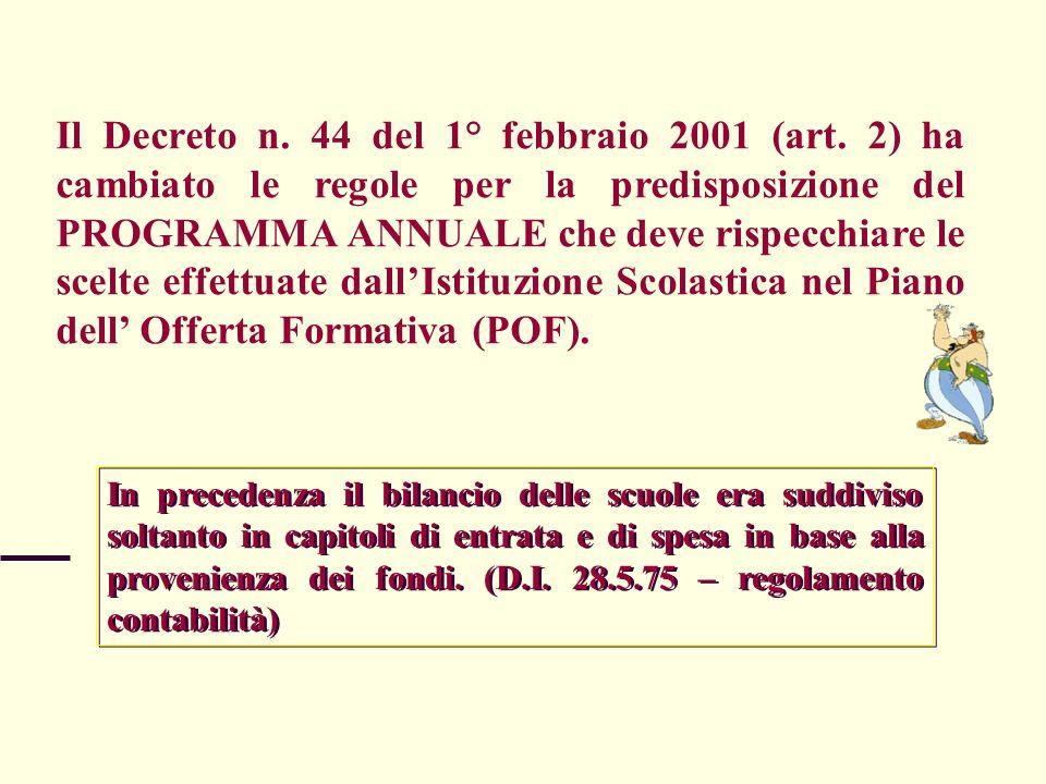 Il Decreto n. 44 del 1° febbraio 2001 (art