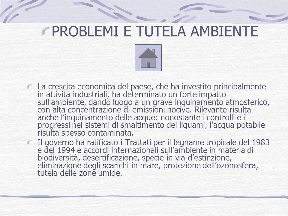 PROBLEMI E TUTELA AMBIENTE
