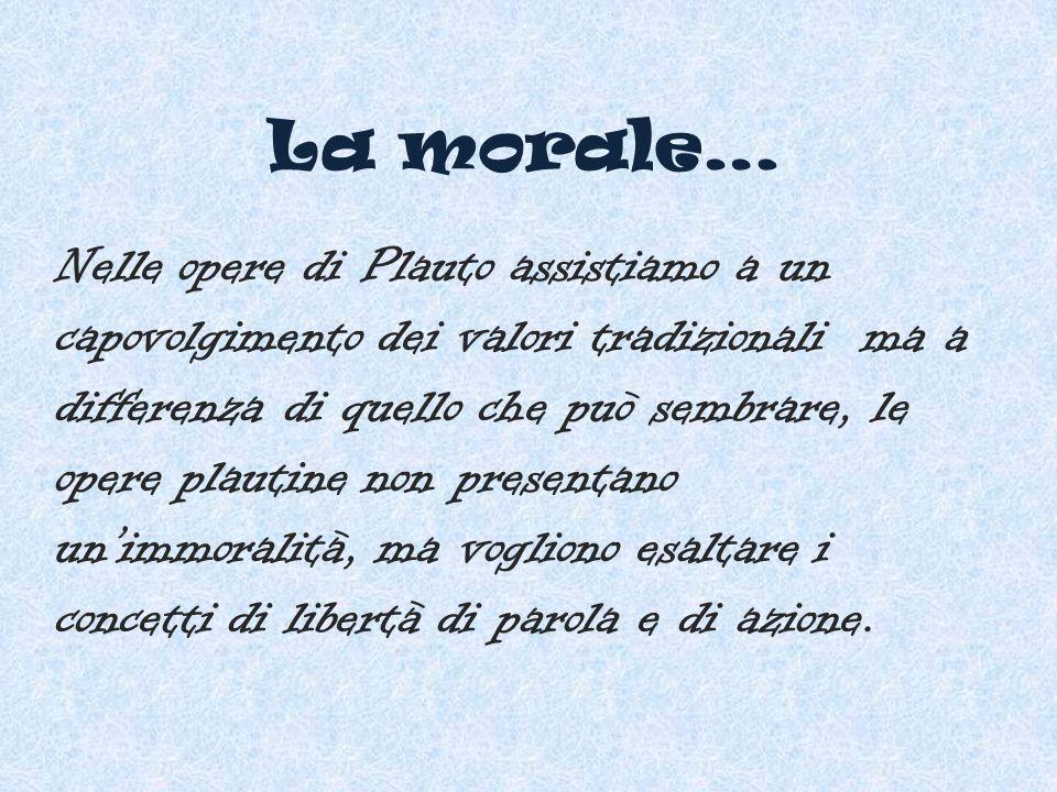 La morale…
