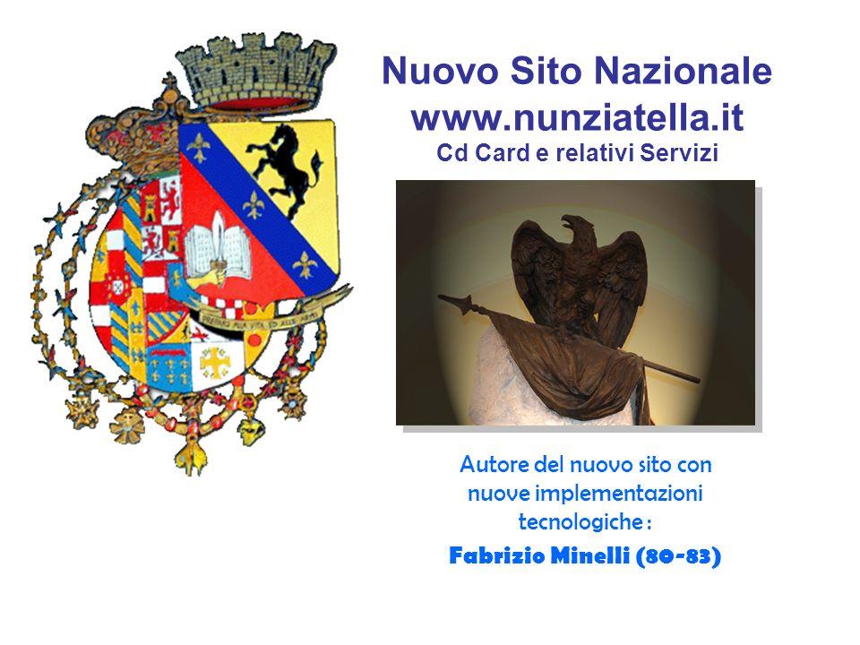 Nuovo Sito Nazionale www.nunziatella.it Cd Card e relativi Servizi