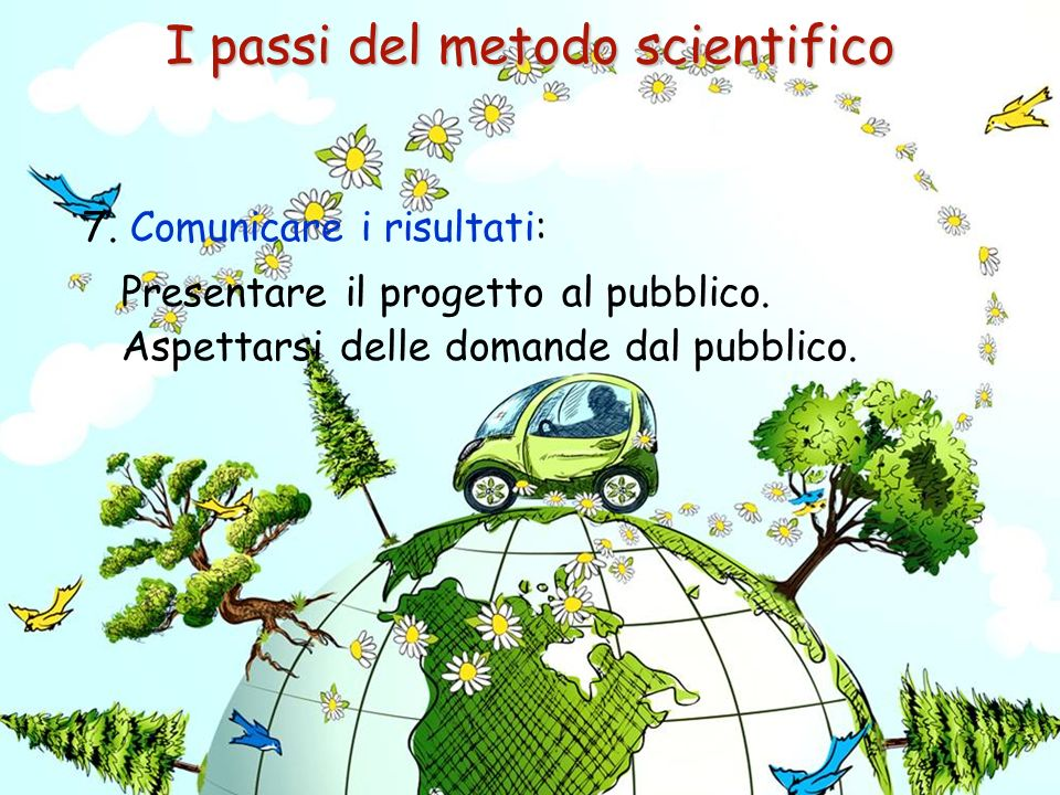 I passi del metodo scientifico