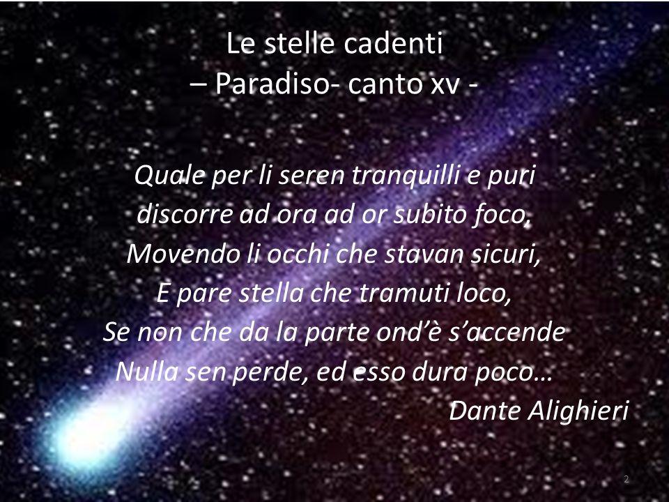 Le stelle cadenti – Paradiso- canto xv -