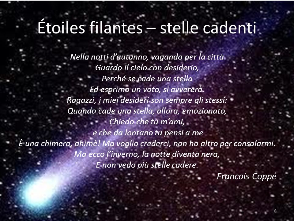Étoiles filantes – stelle cadenti