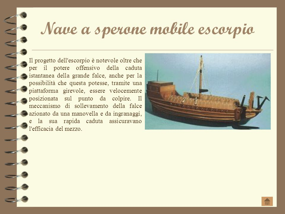 Nave a sperone mobile escorpio
