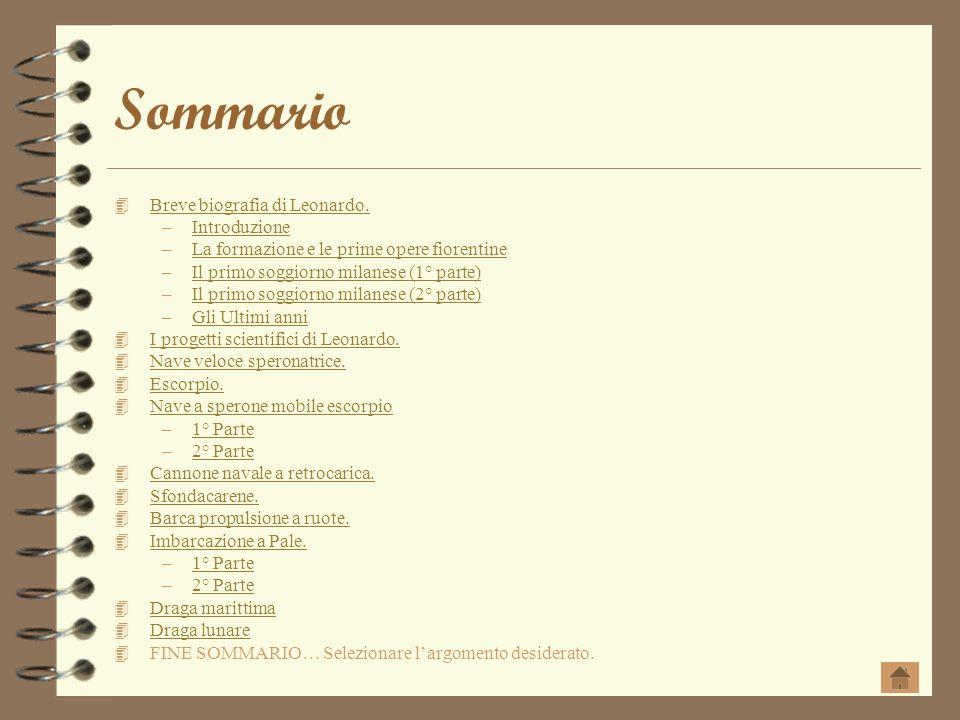 Sommario Breve biografia di Leonardo. Introduzione
