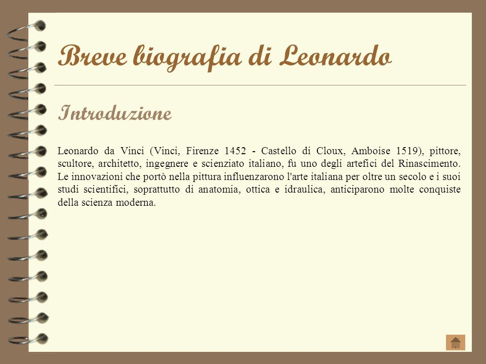 Breve biografia di Leonardo