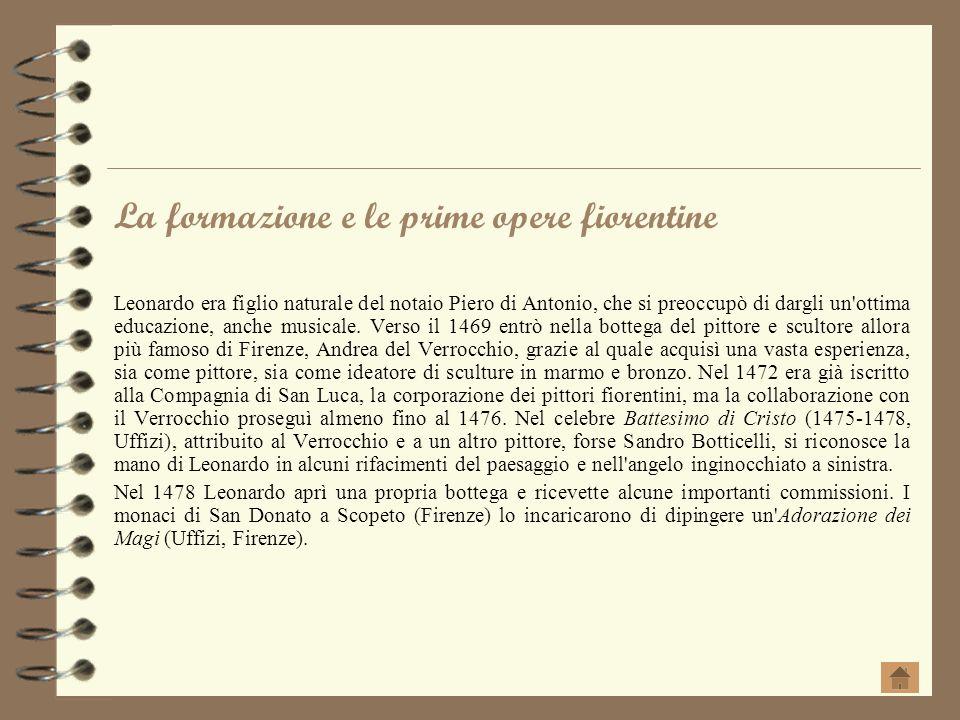 La formazione e le prime opere fiorentine