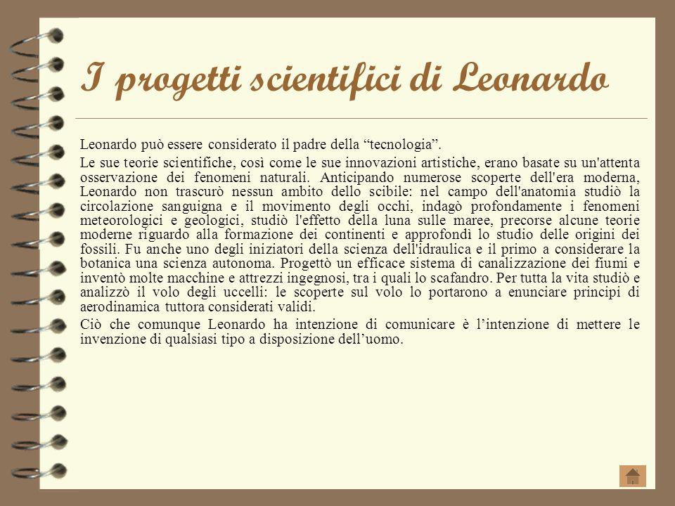 I progetti scientifici di Leonardo