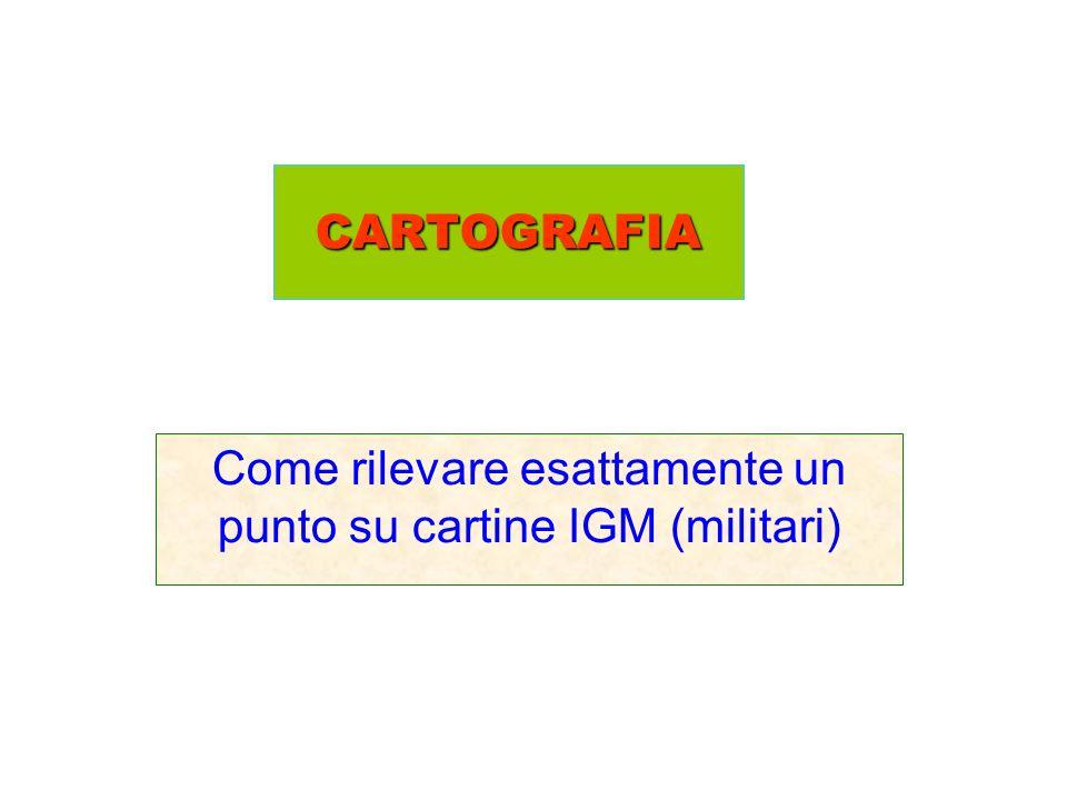 Come rilevare esattamente un punto su cartine IGM (militari)