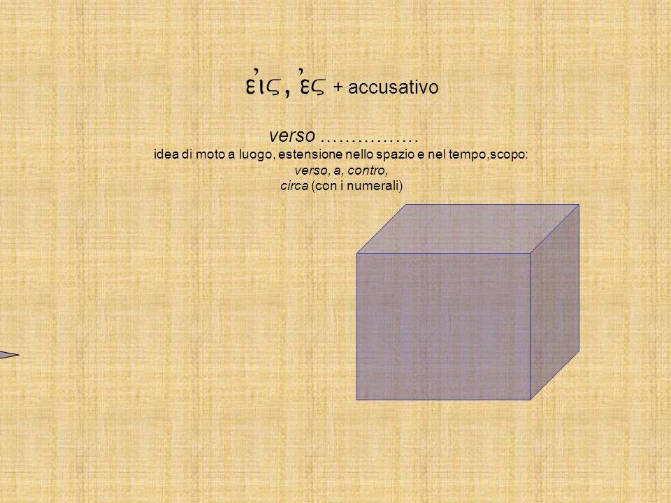 ei)v, e)v + accusativo verso ……………