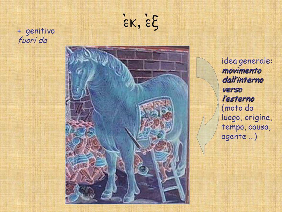 e)k, e)c + genitivo fuori da