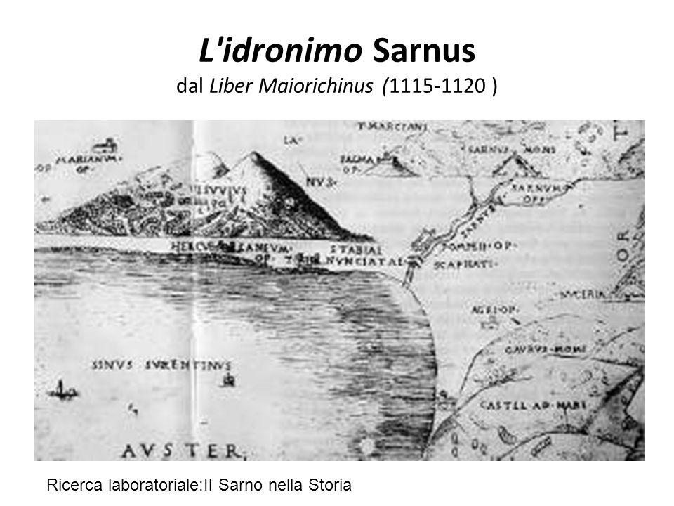L idronimo Sarnus dal Liber Maiorichinus (1115-1120 )