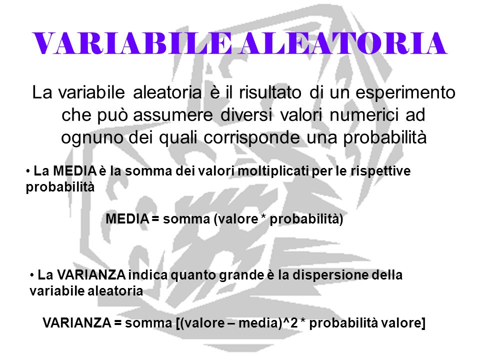 VARIABILE ALEATORIA