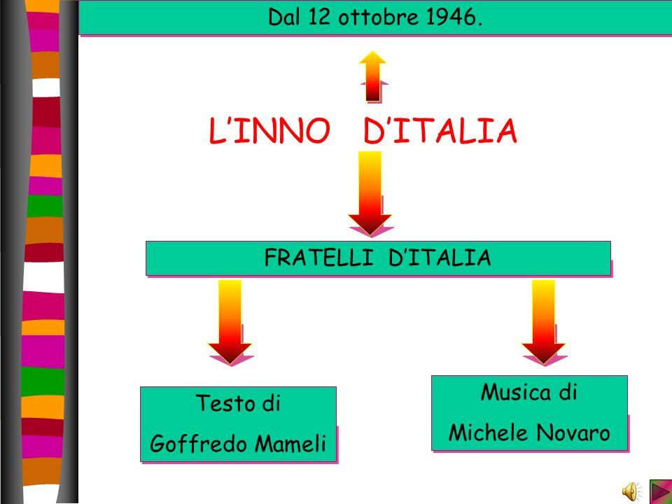 L'INNO D'ITALIA Dal 12 ottobre 1946. FRATELLI D'ITALIA Musica di