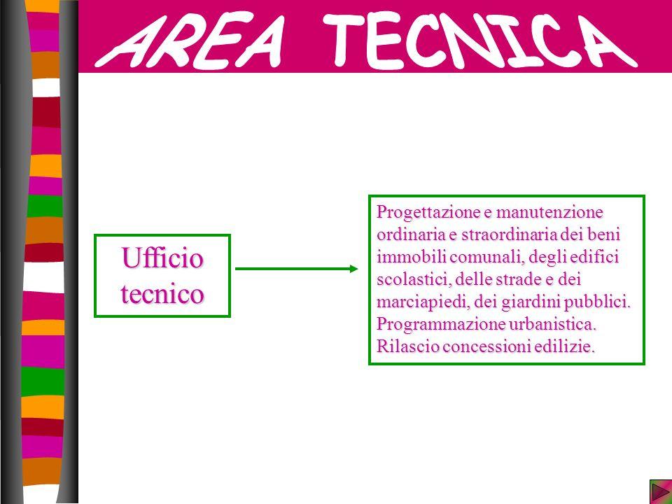 AREA TECNICA Ufficio tecnico