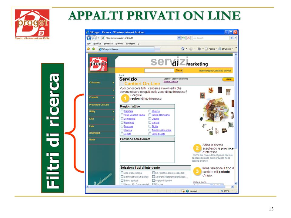 APPALTI PRIVATI ON LINE