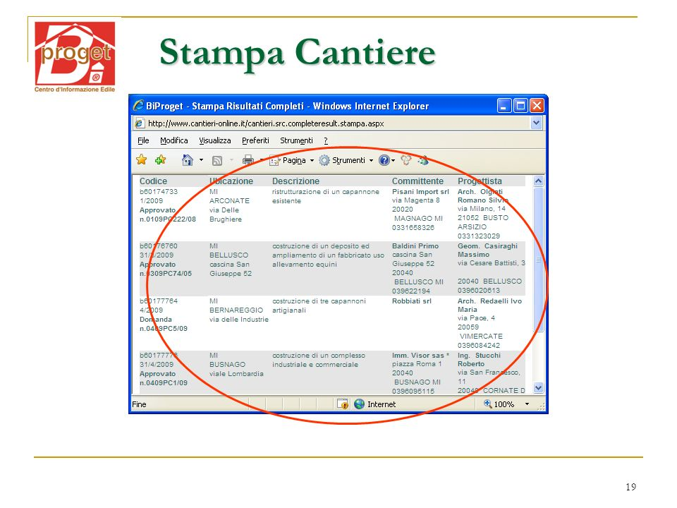 Stampa Cantiere