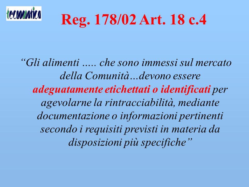 Reg. 178/02 Art. 18 c.4